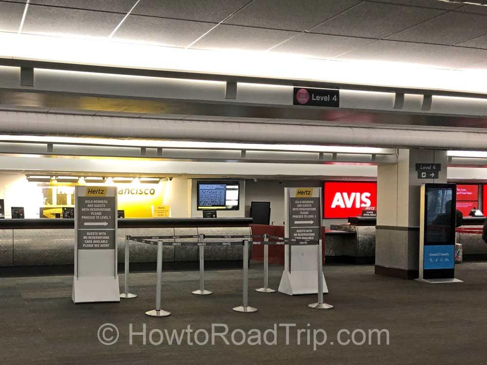 Car rental Center at SFO