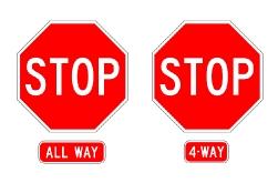 allway_stopの標識