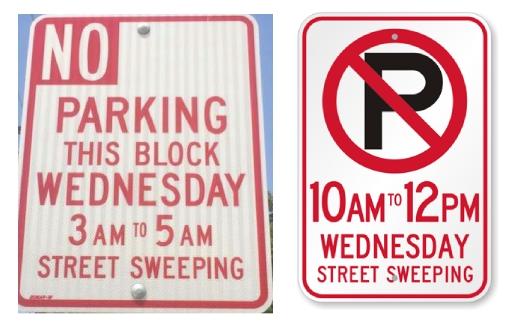 時間指定で駐車禁止
