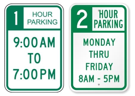 時間指定で駐車可能