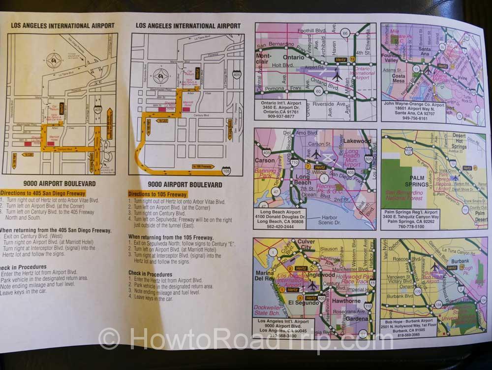 シャトルバス内のマップ