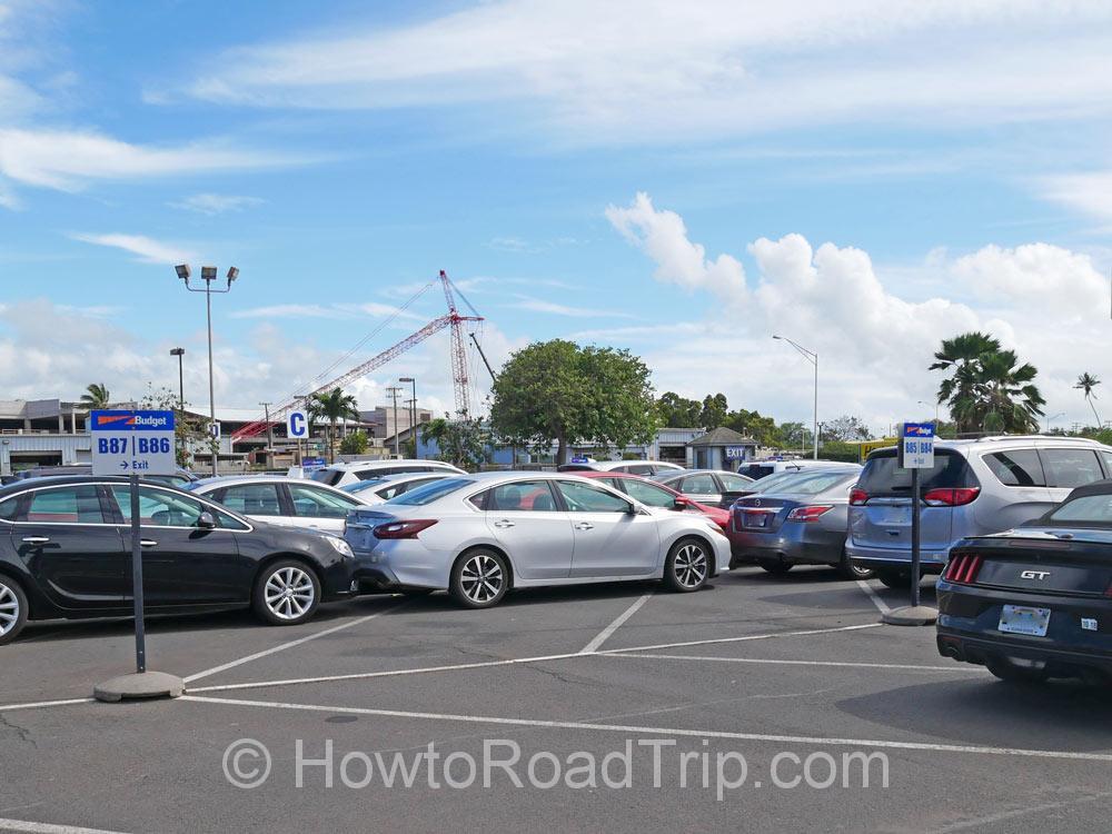 バジェットの駐車場