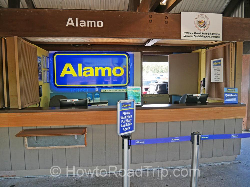 アラモ・ヒロ空港カウンター