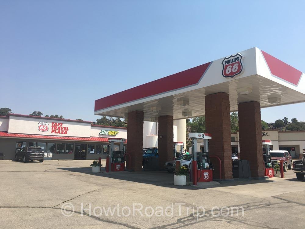 トーリーのガソリンスタンド