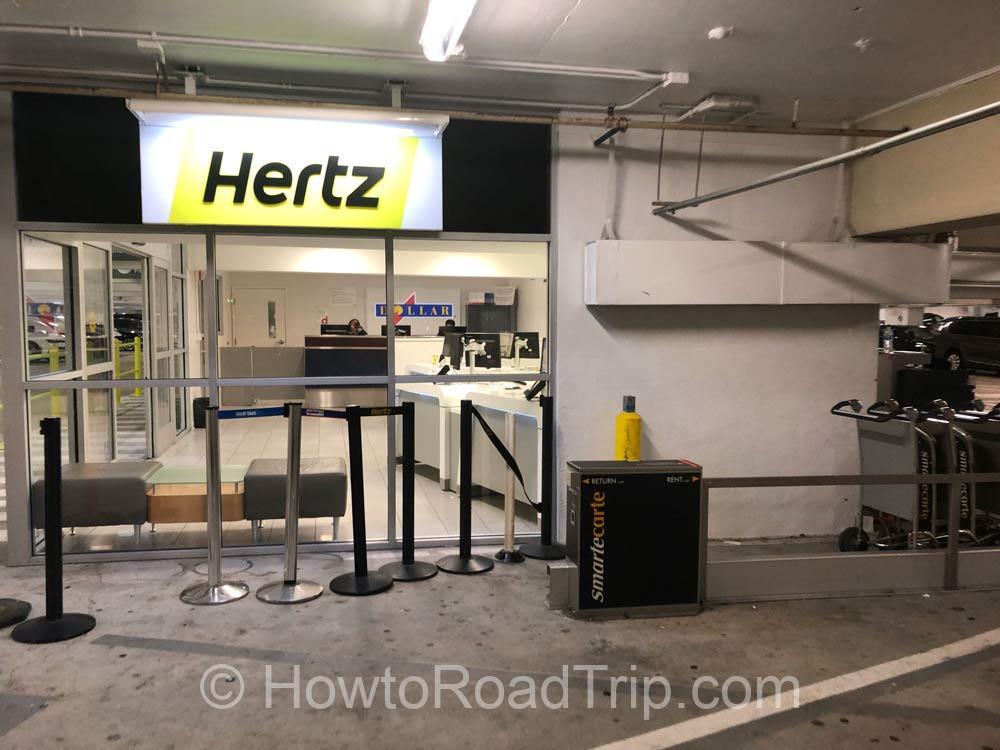 hertz parking