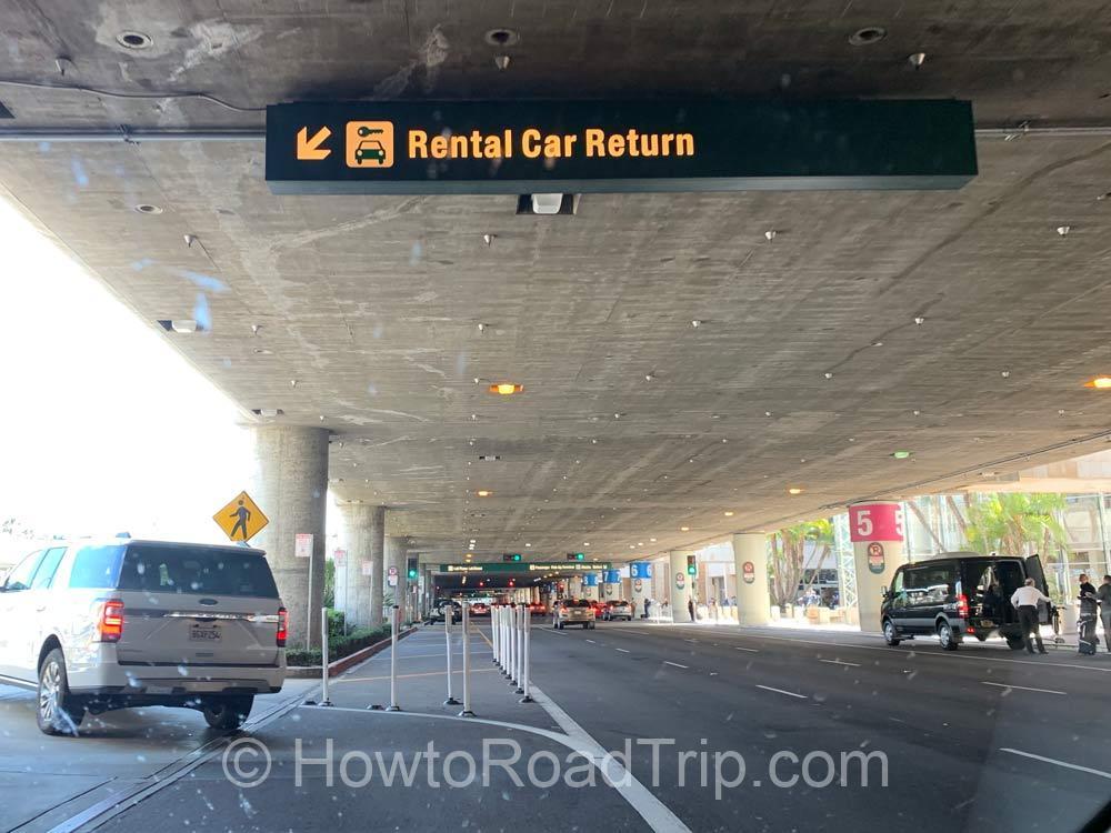 rental car return at sna