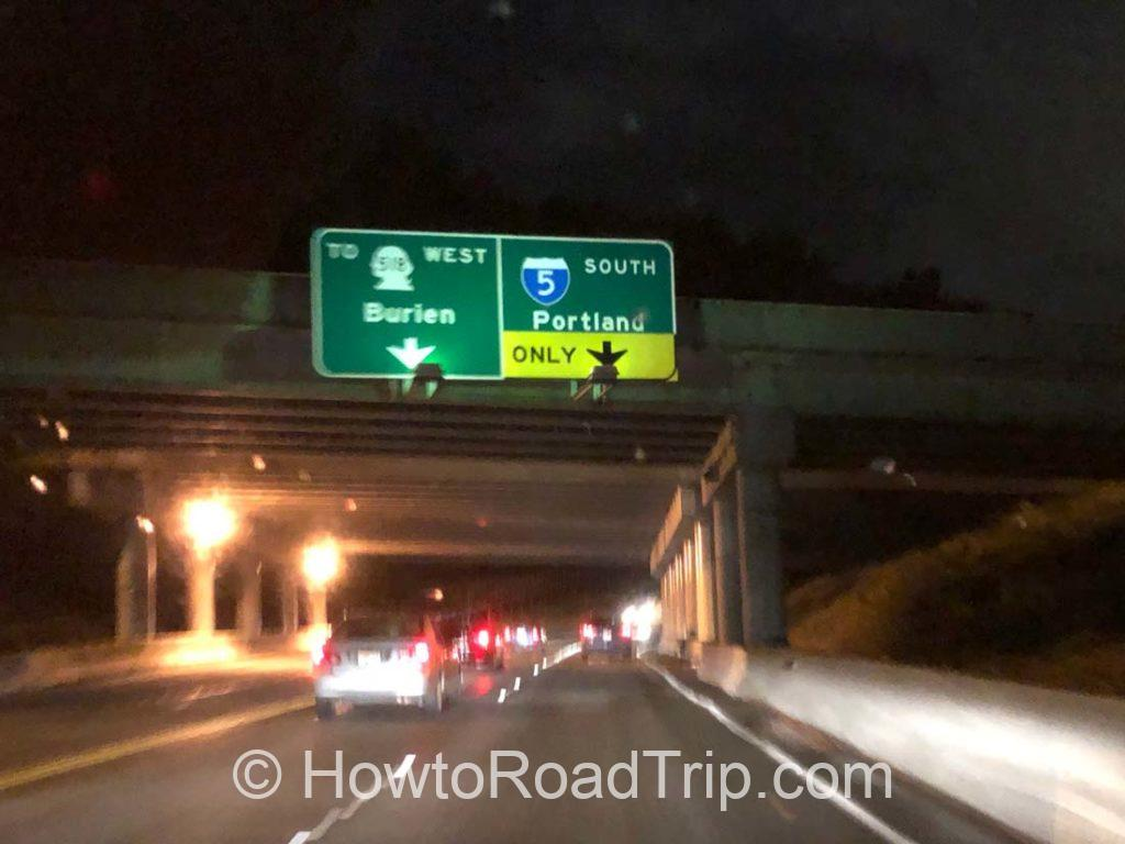 I-d5 to portland sign