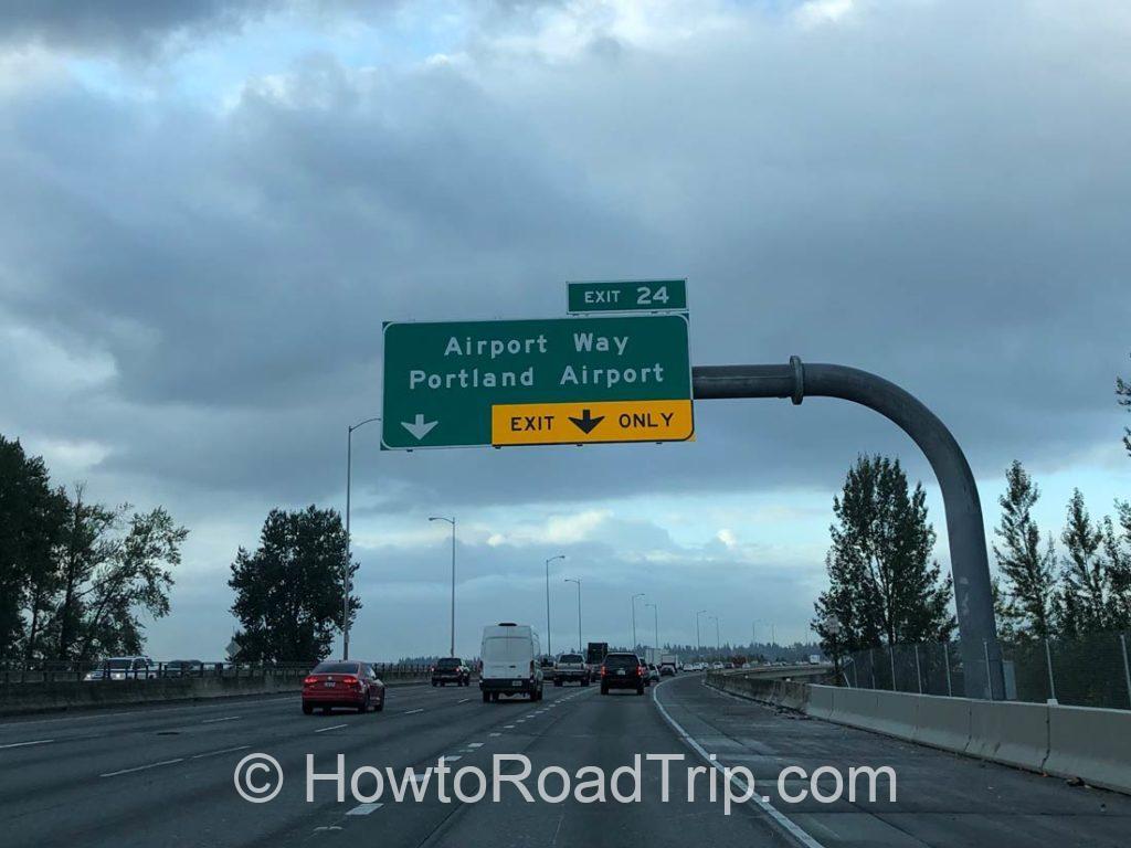 空港付近の高速道路