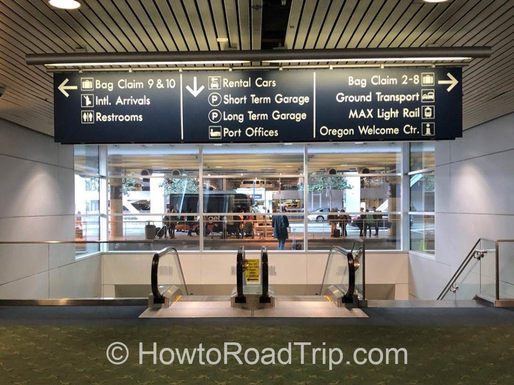 pdx to rent a car center